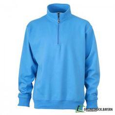 Sweatshirt mit Stehkragen | Halfzip