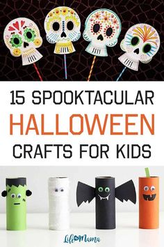 With Halloween fast approaching, there are lots of spooktacular crafts for your kiddos to make. They'll love making all the monsters, ghosts, witches, pumpkins, skeletons, and so much more! Here are 12 great Halloween crafts for your kids to make this year. | Halloween Crafts for Kids #lifeasmama #halloween #crafts Holiday Activities, Craft Activities, Toddler Activities, Halloween Crafts For Kids, Halloween Diy, Halloween Decorations, Cute Crafts, Crafts To Do, Teaching Calendar