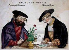 Botanical illustrators at work. - University of Glasgow Library