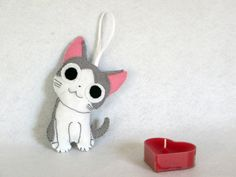 Chi manga, Chi, felt hanging decoration, Chi decoration, manga decoration, Chi figurine, school bag decoration, backpack decoration de la boutique IbelieveIcanfil sur Etsy