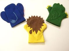 Virtage Gets Crafty: Summer Project #4: wild animal felt hand puppets