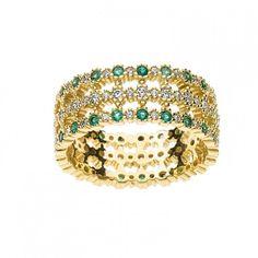 #Comete Gioielli anello smeraldi