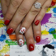 Opi axxium Gel polish Valentine nails