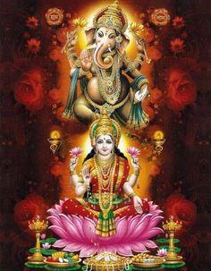 Lakshmi & Ganesha