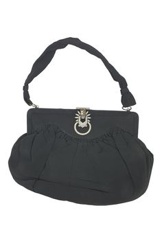 6d595f095330 VINTAGE 1940s - 1950s Black fabric Art Deco Style Evening Bag (M) – The.  The Freperie