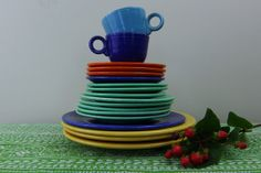 RESERVED FOR SUSAN - Fiesta Dishes by Homer Laughlin Assorted Colorful Dishes Circa 1930s
