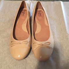 Brand New B.Ø.C Flats Brand New never worn perfect condition.  Fabric upper Patent leather cap toe and heel cap Comfort cushioned insole Flexible synthetic sole B.Ø.C Shoes Flats & Loafers