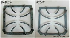 The Pin Junkie.  Easy way to clean stove top grates!
