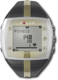 Polar Ft7 Female Fitness Computer.    Packed with a number of innovative training features to help you meet your exercise goals, the Polar FT7 men's heart rate monitor watch is stylish and functional. The FT7's most important function is to check your body's daily condition and guide you to a suitably intense workout, as people benefit from different workouts on different days.  $87.99