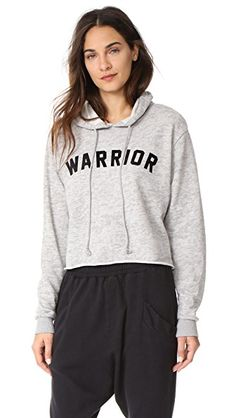 SPIRITUAL GANGSTER Warrior Cropped Hoodie. #spiritualgangster #cloth #dress #top #shirt #sweater #skirt #beachwear #activewear