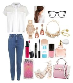 """""""#Lady"""" by ellen2104 ❤ liked on Polyvore featuring Topshop, Christian Louboutin, Calvin Klein, Laura Geller, Lord & Berry, Maybelline, LVX, Guerlain, Michael Kors and The Limited"""