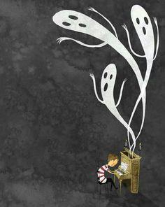 lee halloween illustration uploaded user children boy ghost