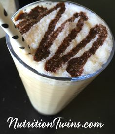 Skinny Frappuccino | Only 82 Calories | High in Protein to Prevent Sugar Crashes & Cravings | For MORE RECIPES, fitness & nutrition tips please SIGN UP for our FREE NEWSLETTER www.NutritionTwins.com