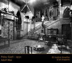 Palau Guell - 1932 Antoni Gaudi, City Aesthetic, Cubism, Stained Glass, Art Nouveau, Architecture, Modern, Lost, Key