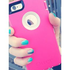 """""""Enjoying the bright pink #otterbox for my #iphone6, it's making me very enthusiastic about spring"""""""
