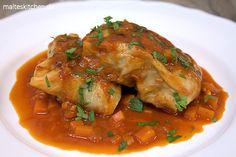 Krautwickel bzw. Kohlrouladen in Tomatensauce nach einem Alfons Schuhbeck Rezept. Geschmacklich richtig toll :) #krautwickel #kohlroualden