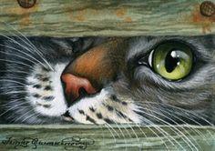 "pgarmashove-cawton art | Irina Garmashova-Cawton ""Curious Nose"""