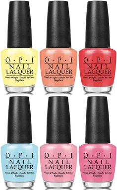 OPI Retro Summer 2016 Collection /Towel Me About It /I'm Getting a Tan-gerine /SPF XXX /Sailing & Nail-ing /What's the Double Scoop? /Flip Flops & Crop Tops