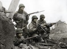 ww2 us soldier shown with bayonet | American soldiers - Battle of the Bulge WWII