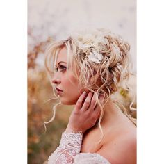 Wedding Hair Accessories- Champagne wedding hair piece - Bridal flower... ($119) ❤ liked on Polyvore