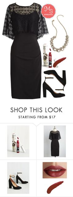 """""""Haute for the Best Dress"""" by modcloth ❤ liked on Polyvore featuring TheBalm, WeddingGuest, outfit, formal and modcloth"""