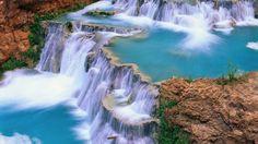 widescreen hd waterfall