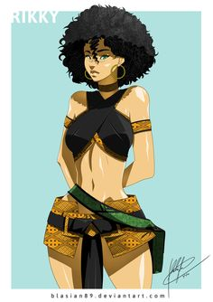 Rikky Traditional Outfit by wearing traditional Diimon-inspired Batik outfit before her adventures with Izzy and the gang This version of Rikky is more closely based off of the person she is based off of She is Indonesian. Black Girl Art, Black Women Art, Black Girl Magic, Art Girl, Black Artwork, Artwork Images, Interracial Art, Black Anime Characters, Black Comics
