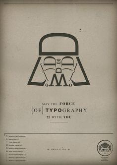 brilliant. STAR WARS typography