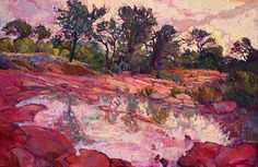 Hill Country Dawn Painting by Erin Hanson