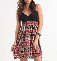 Native Print dress, Pacsun