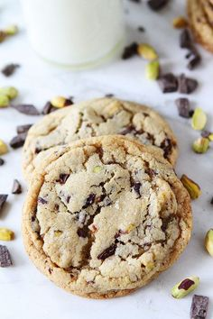 Dark Chocolate Chunk, Pistachio, and Sea Salt Cookies