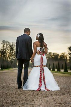 Wedding dress with African twist