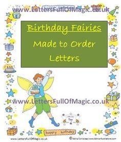 Birthday Girl Letter  Blank  By Letters Full Of Magic  Birthday