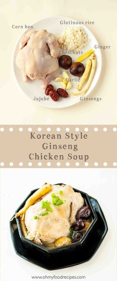 Find the perfect Asian-inspired instant pot recipes to celebrate your next meal or special occasion. From rice to noodles to soups these Asian instant pot recipes hit the spot! Korean Chicken Soup, Ginseng Chicken Soup, Asian Soup, Chicken Soup Recipes, Korean Dishes, Korean Food, Korean Recipes, Korean Menu, Chinese Recipes