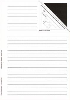 La feuille d'examen avec pliage du coin pour cacher le nom