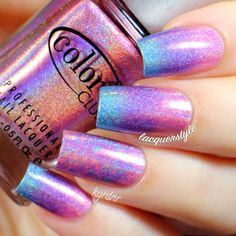 Holographic Gradient Nails