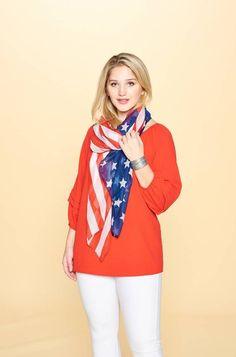 AMERICANA COLLECTION SCARF by Accent Accessories Scarves, Red, Blue, Accessories, Collection, Style, Fashion, Scarfs, Moda