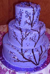 cool design..would want white frosting with white branches :)