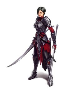 Female Human Dual Wield Fighter Rogue - Pathfinder PFRPG DND D&D 3.5 5th ed d20 fantasy