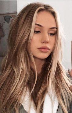 New hair goals blonde highlights ombre ideas Brown Hair Balayage, Brown Blonde Hair, Light Brown Hair, Blonde Roots, Balayage Brunette, Dyed Hair Brown, Girls With Blonde Hair, Dying Hair Blonde, Blondish Brown Hair