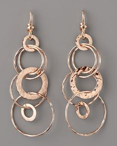 Rose Gold Multi-Link Jet-Set Earrings, Mini by Ippolita at Neiman Marcus.