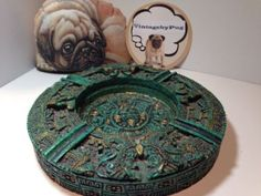 Vintage Malachite Aztec Ashtray *NO RESERVE*