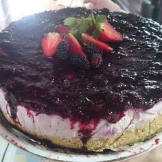 Cheesecake de amora da chácara - níver da Bi