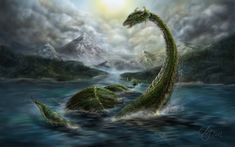Nessy - Monster of Loch Ness - Digital Painting by SarembaArt Software: Photoshop CS6 Tool: Wacom Cintiq 21ux