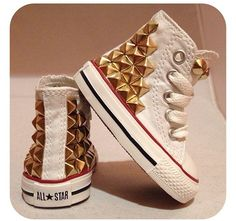 febbe60a563ff9 White Converse For Kids. Studded Converse