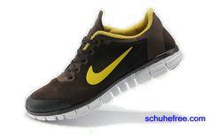 premium selection d54ff d6003 Herren Nike Free 3.0 V2 Anti -Pelz-Schuhe , Braun, Gelb