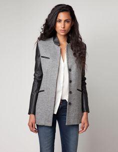 Manteau gris femme bershka