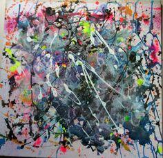Emotional Turbulence  Mixed Media  50x50 Ink Painting, Wax, Mixed Media, My Arts, Mixed Media Art, Laundry