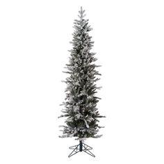 Vickerman 7 ft. Frosted Glitter Tannenbaum Pine Pre-lit Christmas Tree - A167971LED