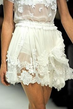 White #lace...might be a bit cool